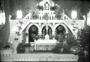 Exposition of the Blessed Sacrament in the outside Chapel of the old Monastery