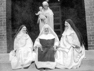 From left to right: Mother Mary Magdalen,Sr. Mary Joseph and Mother Mary Imelda