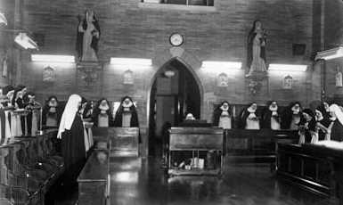 Sisters at prayer in the Detroit Monastery