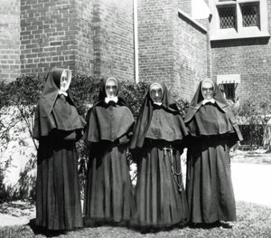 Outside Sisters, SM Jesus is at left center and SM Immaculata is at right center