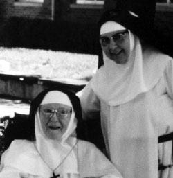 Mother Mary of Jesus with Sr. Mary of the Divine Heart