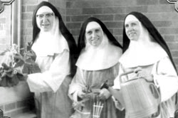From left, Sisters Mary Agnes, Mary of the Pure Heart and Mary of the Visitation