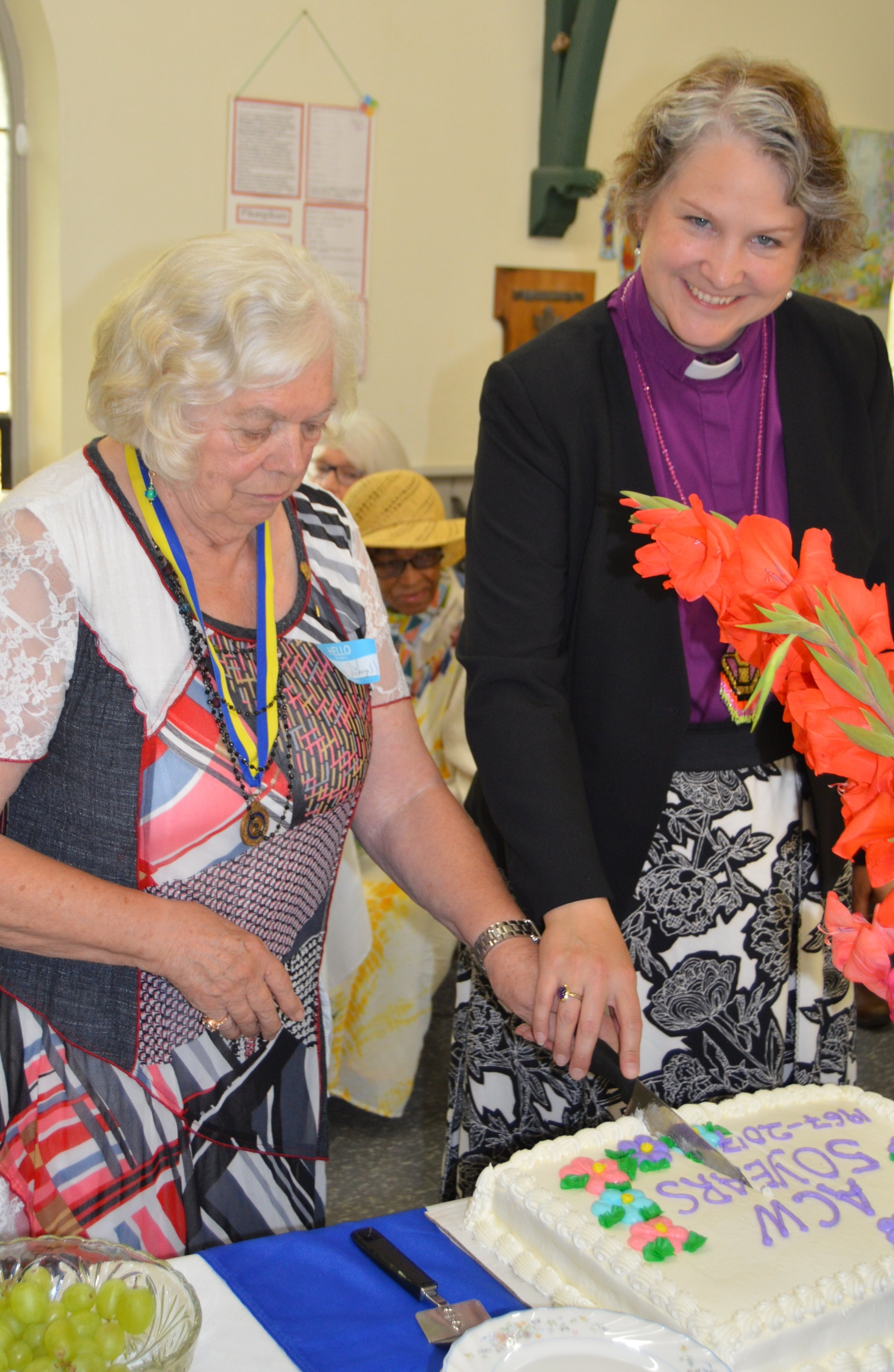 ACW President Margery Freethy and Bishop Riscylla - Woman's Day of Reflection.