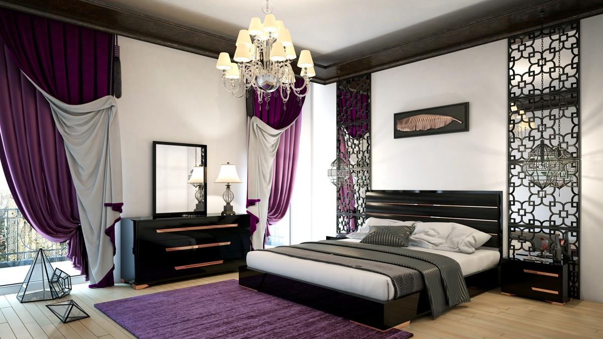 Romeo Italian Modern Black and Rosegold Bedroom Set — DecoDesign Furniture  | Furniture Store | Miami Fl | Wholesale Prices