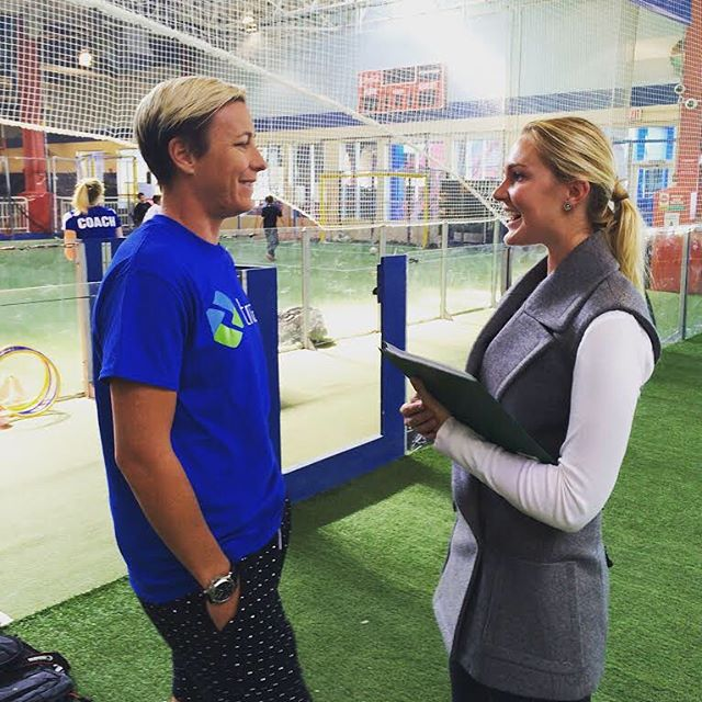 """#tbt to one of our earlier interviews with soccer star @abbywambach. The words she lives by...""""My motto in life has been that you only live once. You better take advantage of this time because you don't get a second chance at this. At least in my opinion."""" Link in bio to read the full interview #activelylivinginlove"""