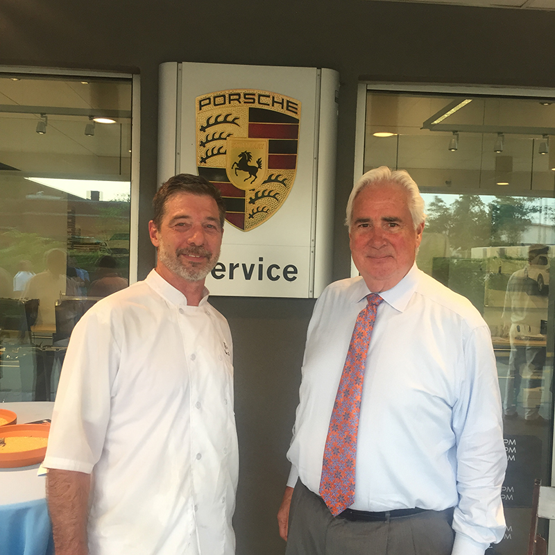 Chef Jim Holderbaum and Robert Clark, President and CEO of Historic Annapolis.