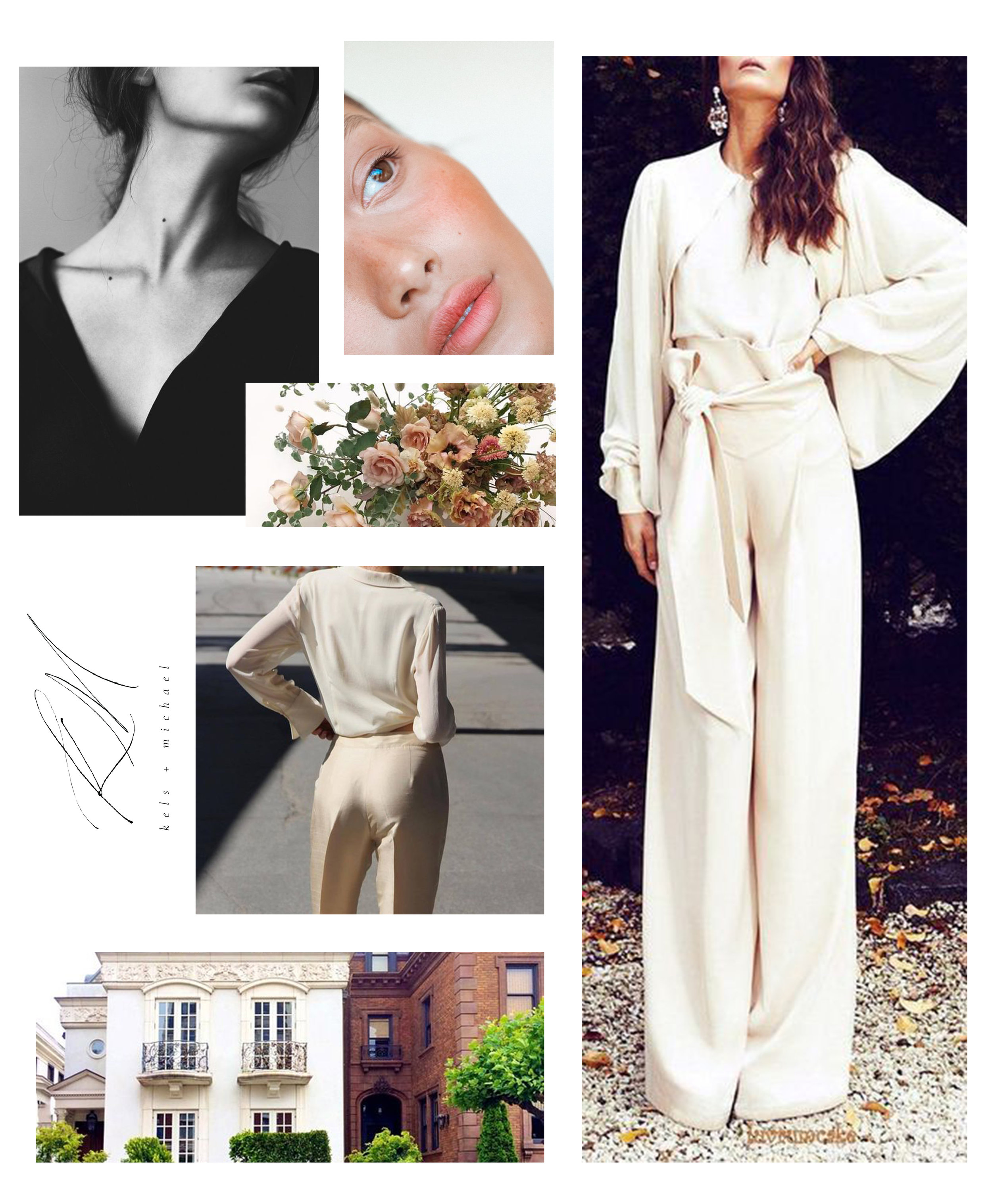 When planning an editorial, I always start with a concept board. Having a board full of inspiration, tailored to the look I'm going for, helps me stay focused when sourcing items and communicating with other vendors.