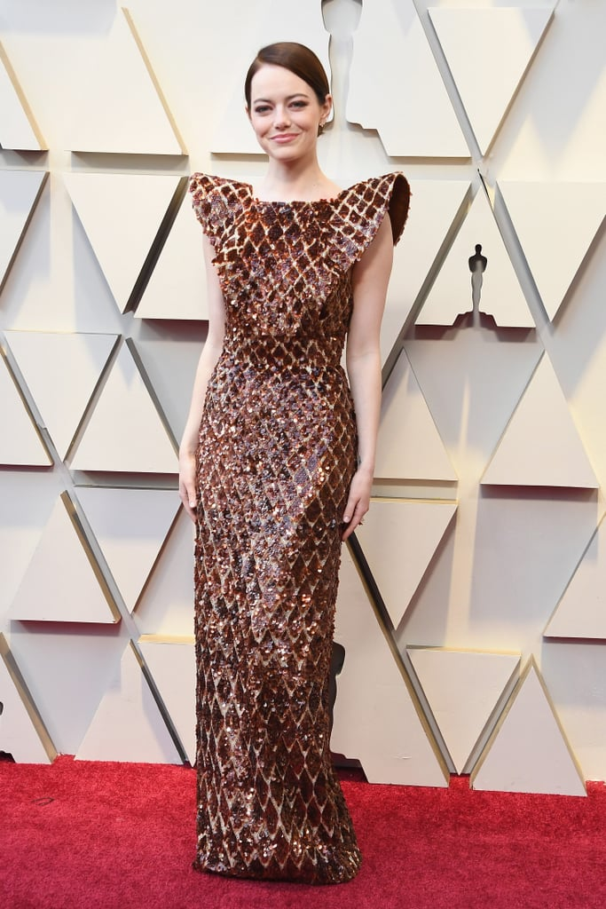 Oh, Emma Stone, in the magnificent Louis Vuitton.