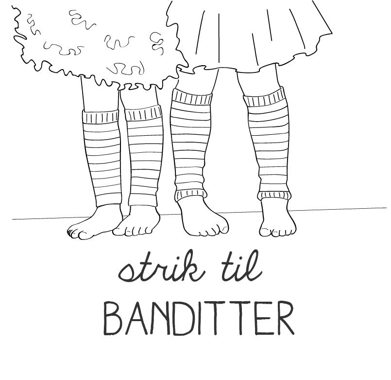Strik til BANDITTER udkom i I 2014. Bogen indeholder 21 farverige, lækre og anvendelige strikdesign til børn i alderen 2 – 10 år.