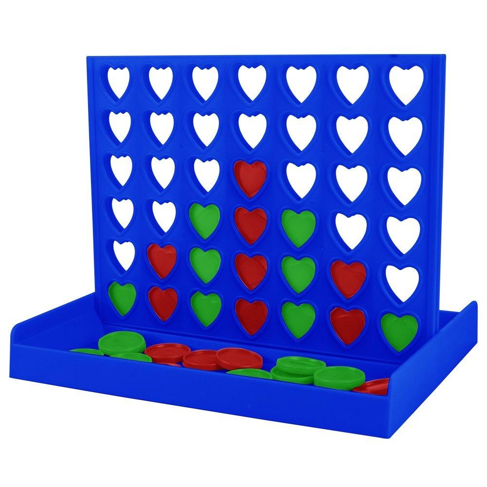 4 in a row con fichas de corazón. US$9.99 en Amazon.