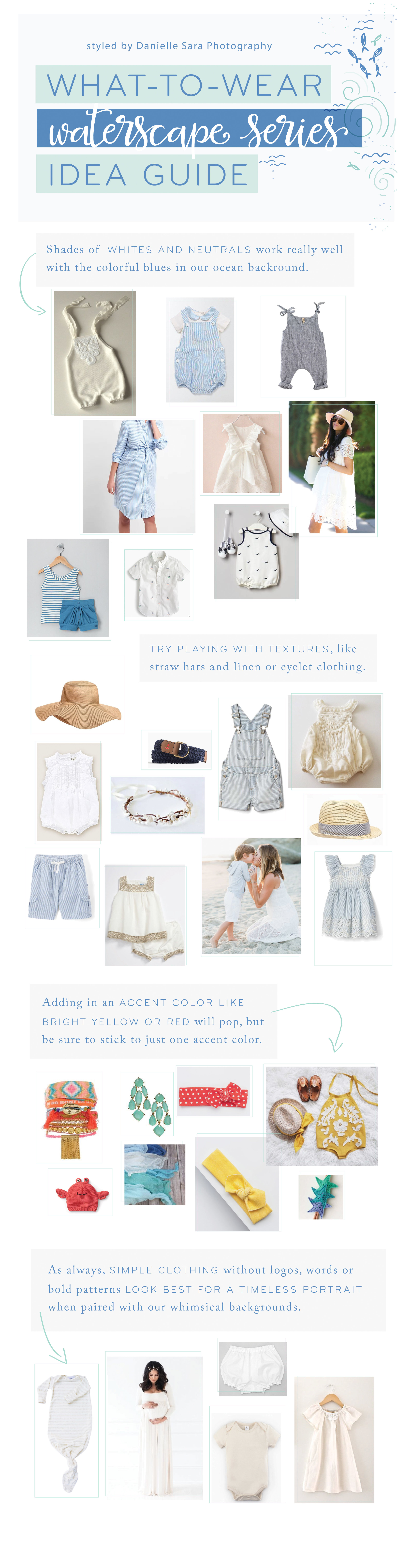 what to wear guide for blues, whites and neutrals