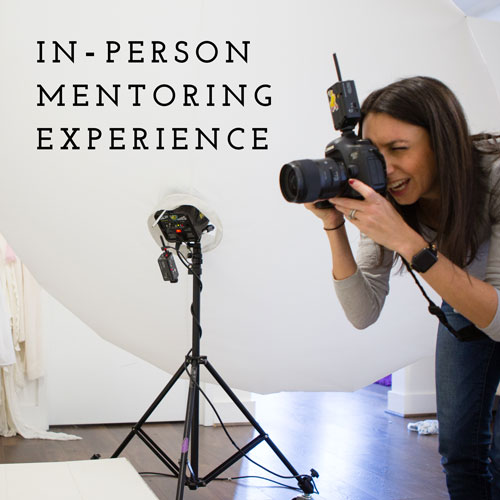 In-Person Photography Mentoring Experience: - This is an in-person 1:1 photography experience with a focus on one of the following areas: maternity, baby, or newborn. This is a completely customizable four-hour mentoring session. I will share my experience and knowledge to discuss any aspect related to technique or business that you would like to cover. Includes live models for shooting time as well as editing time. Includes post-session access to me by email with any additional questions for 60 days. How it works:1. Once you book your session, I'll be in touch to schedule our time together. All in-person mentoring will take place at my Rockville, MD studio.2. We'll spend four hours together. The first 1-2 hours will include an all-encompassing discussion about your area of interest. We'll cover topics including but not limited to posing, lighting, client interaction, sales, editing and marketing. I'll share my knowledge and my steps for a successful and profitable session.3. The second half of your session will be hands-on. I will provide a model and we will do a session together so you can gain experience in a variety of different areas. You will be able to use images taken in your portfolio.4. After your experience, you will receive bonus materials from me that will help you take the next step towards success.BONUS MATERIALS: customizable prep guide for your area of interest to use with your clients.NOTE: Share your mentoring experience with another photographer or two and split the cost!