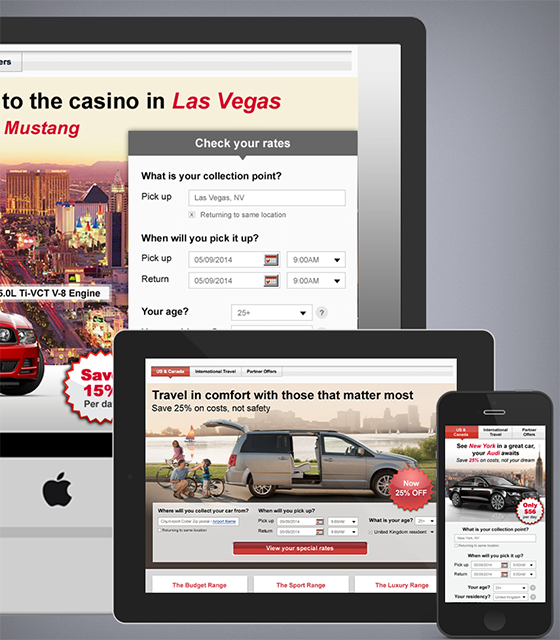Avis landing pages