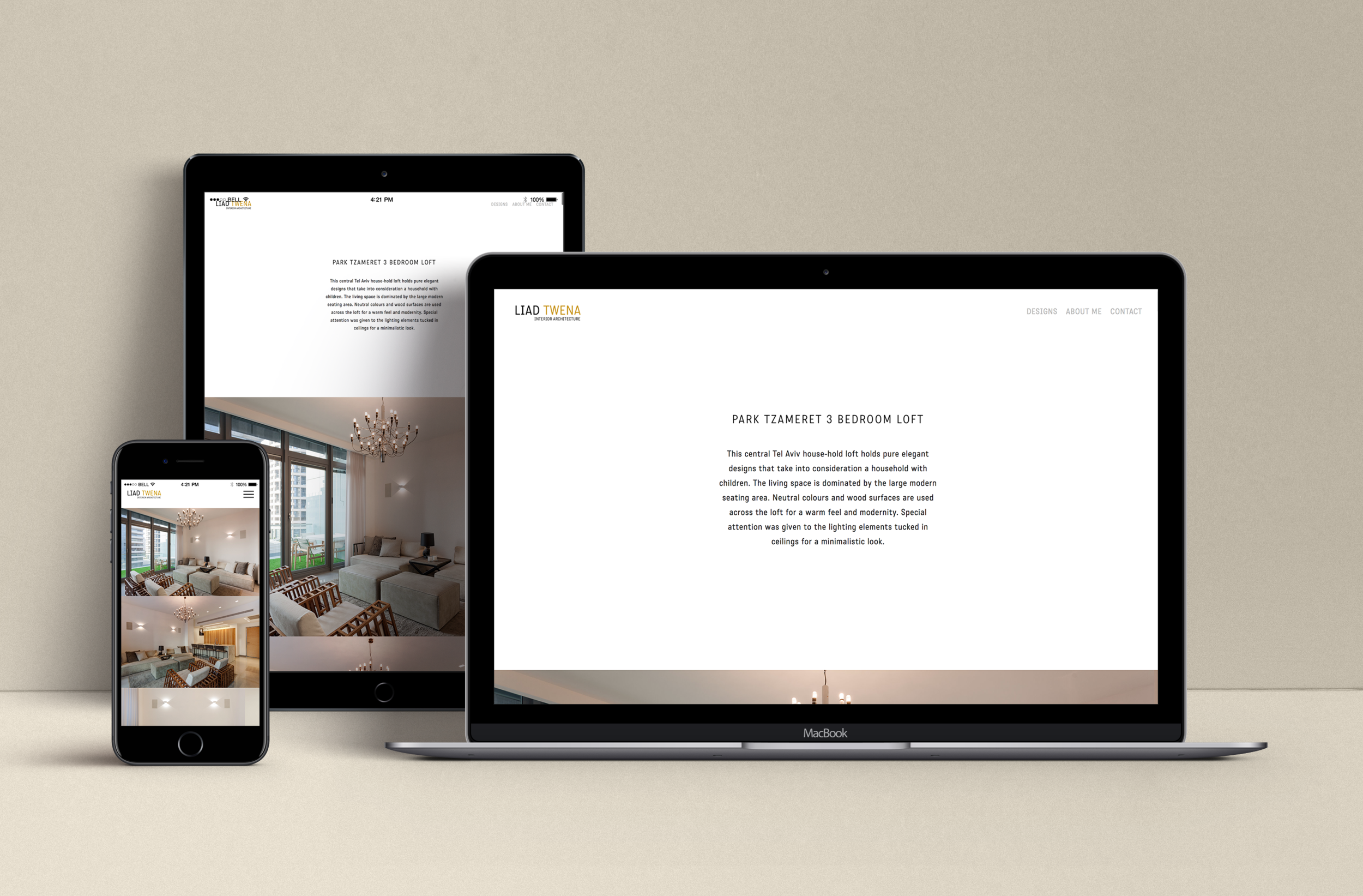 fully responsive website -