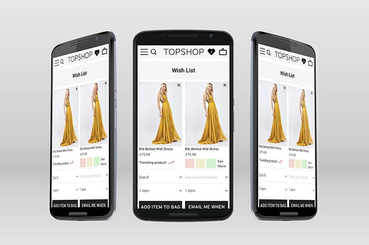 Arcadia group - A unified and consistent platform, hosting the group's 7 brands including Topshop, Burtons, Miss Selfridges, Dorothy Perkins and more. Fully responsive and designed for testing and optimisazion in mind.