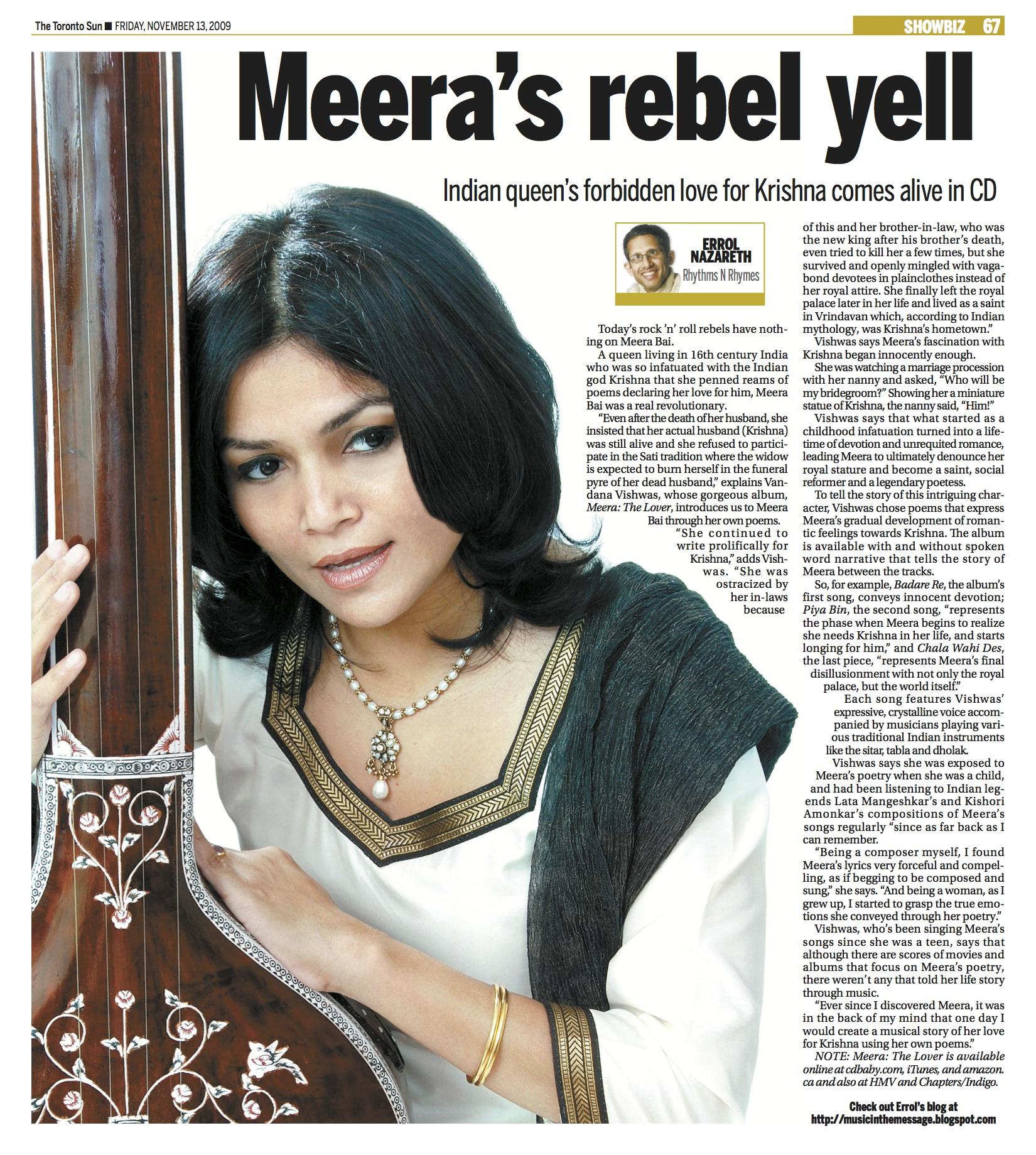 Vandana Vishwas - Nov 13-09 The Toronto Sun copy.jpg