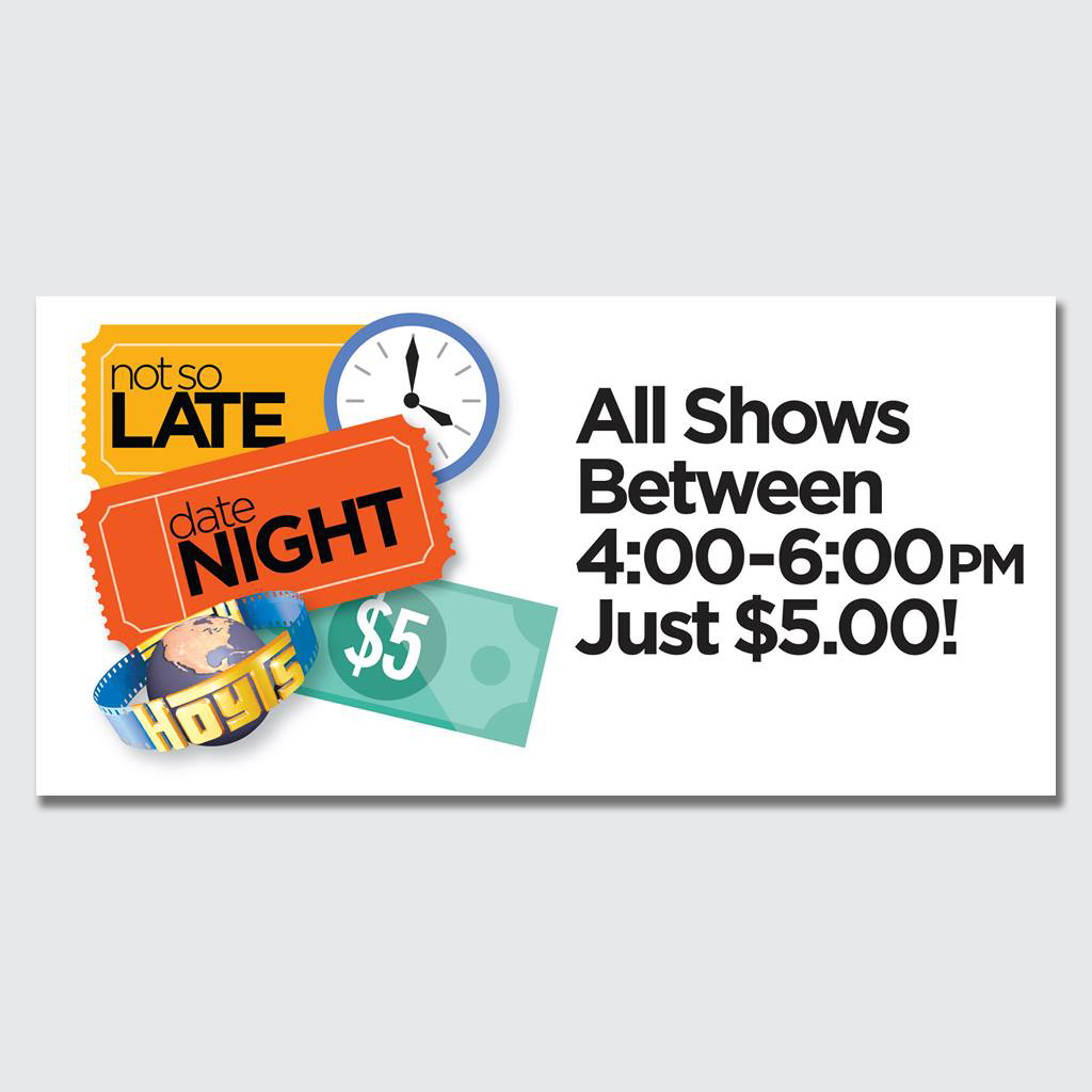 """Not So Late Date Night"" promotion"