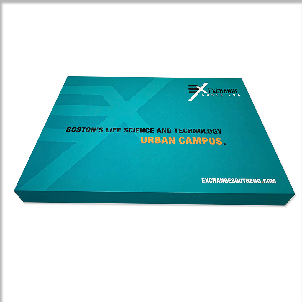 The front cover of the marketing package