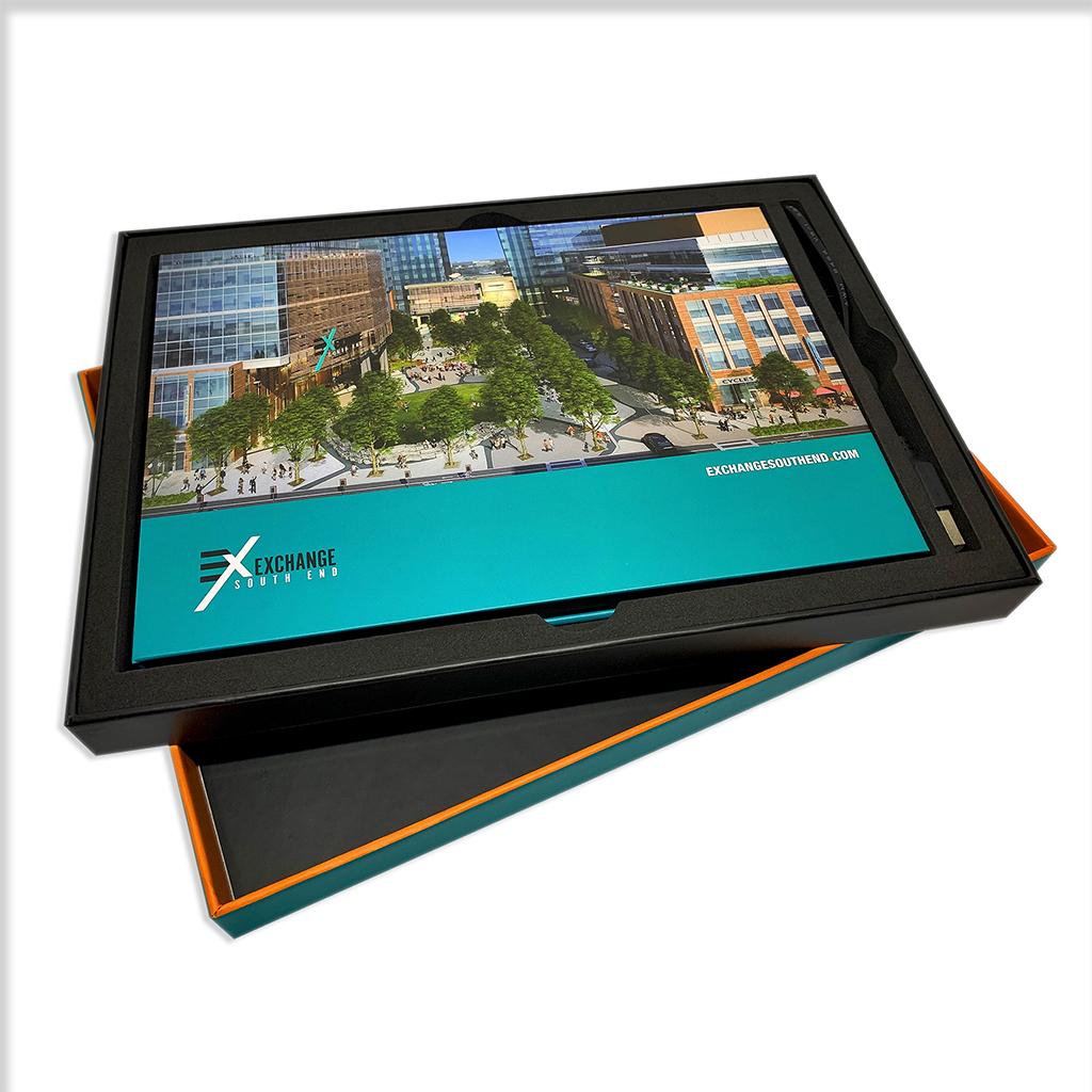 Video brochure within foam insert