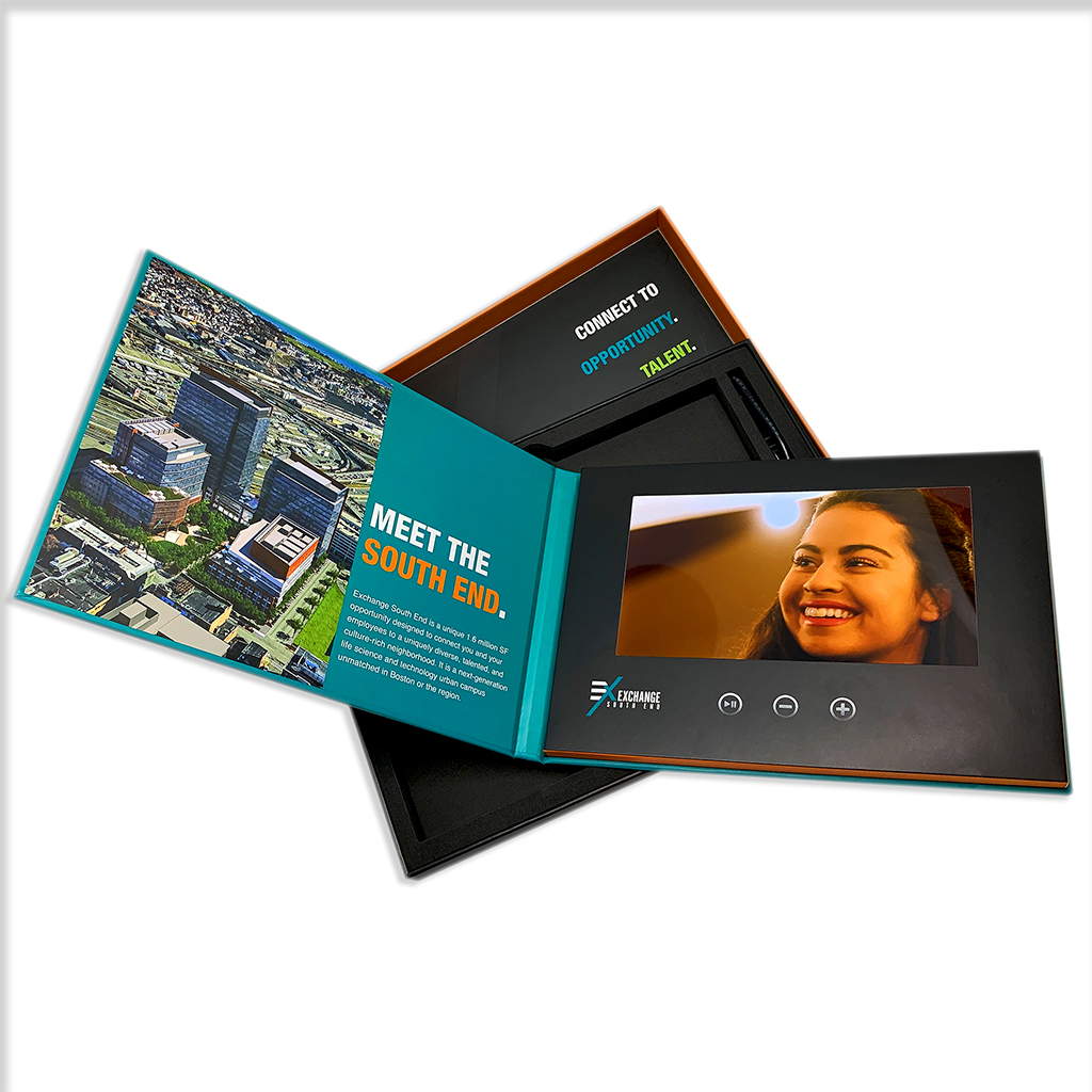 Booklet and the incorporated screen