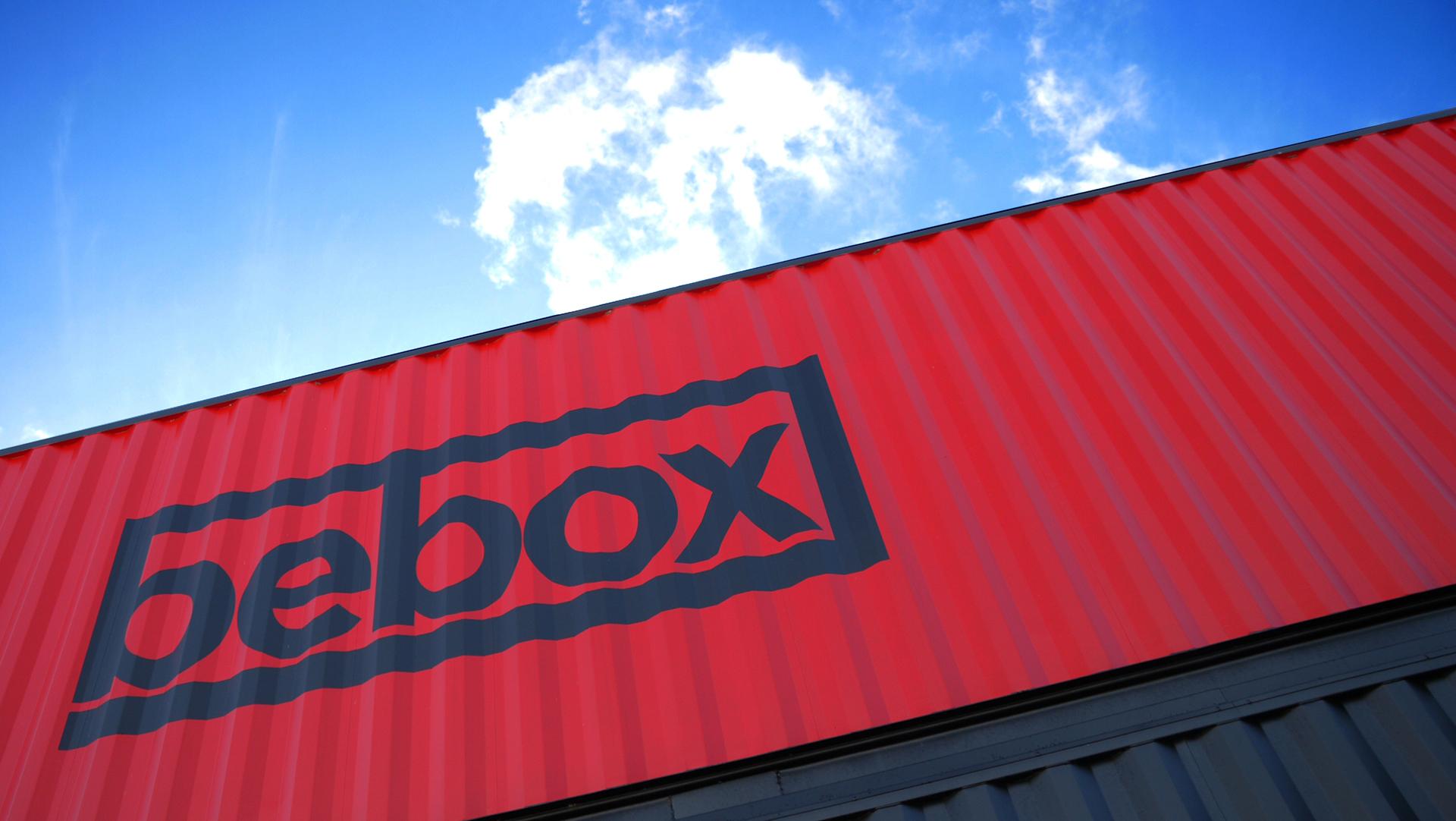 Bebox exterior sign