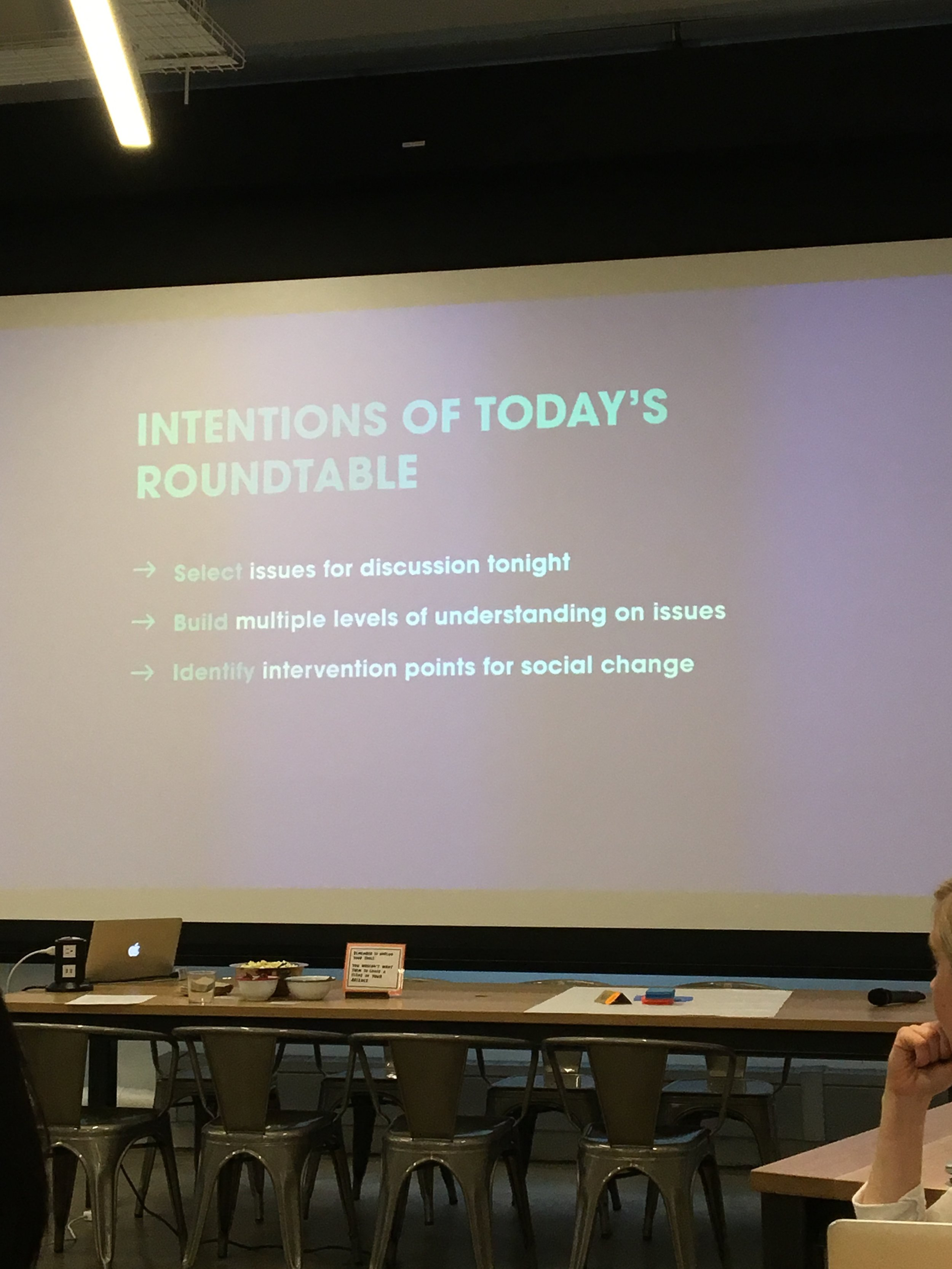 Tonight's Roundtable Goals