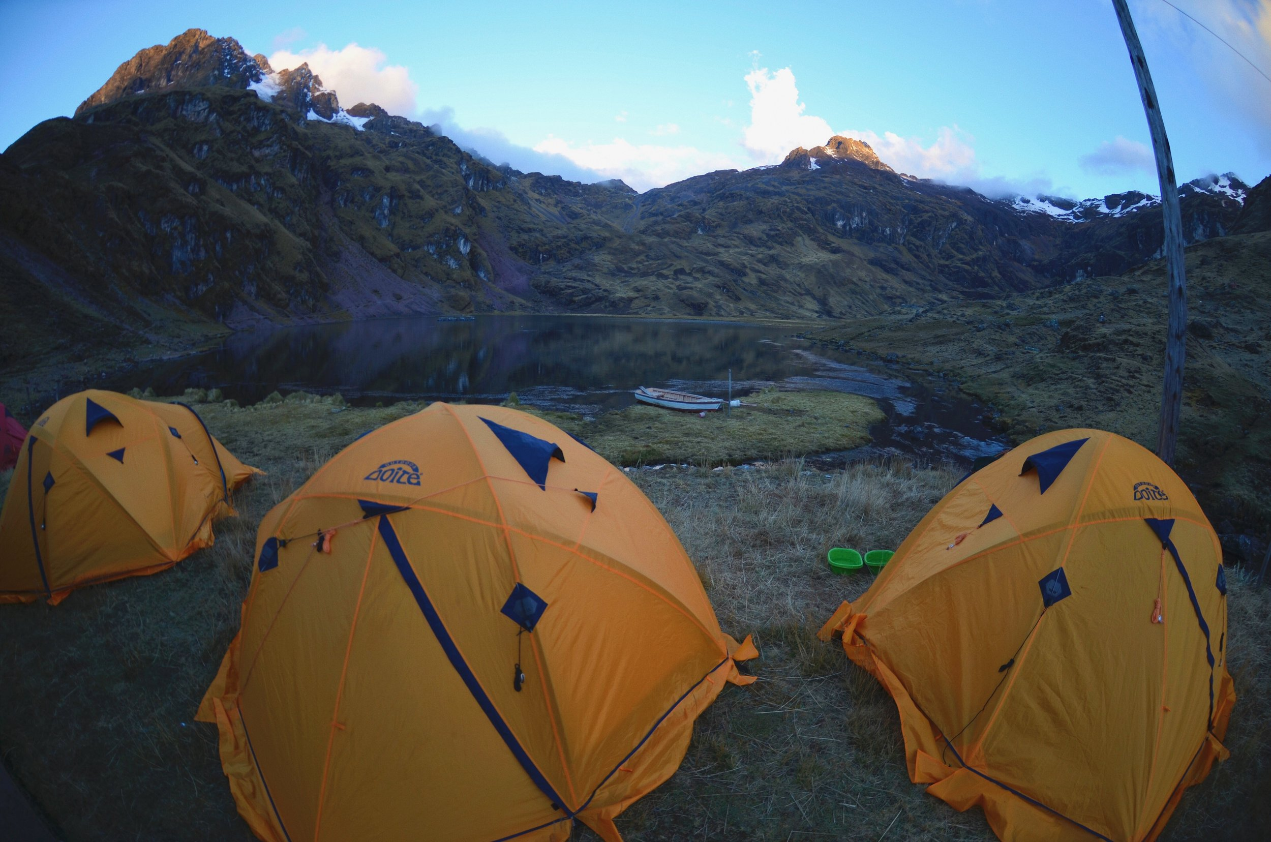 Our camping spot on the Lares Trek in Peru.