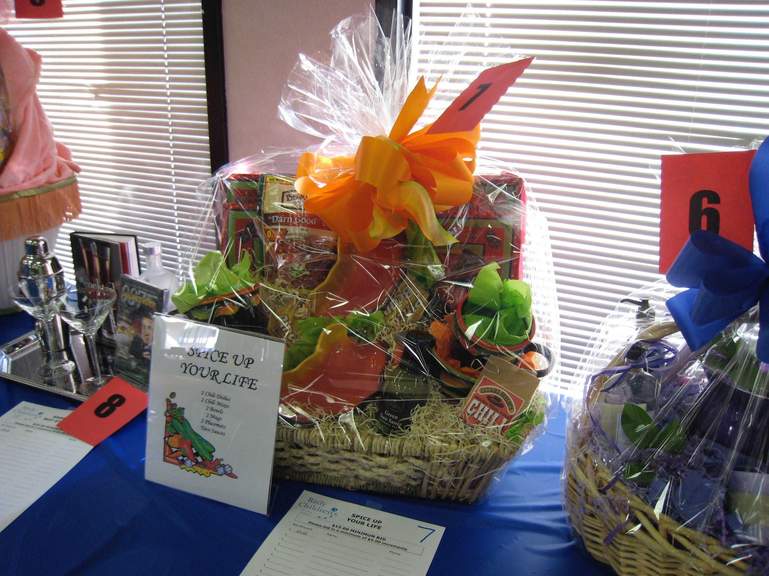 Gift Baskets for Children's Hospital Auxiliary