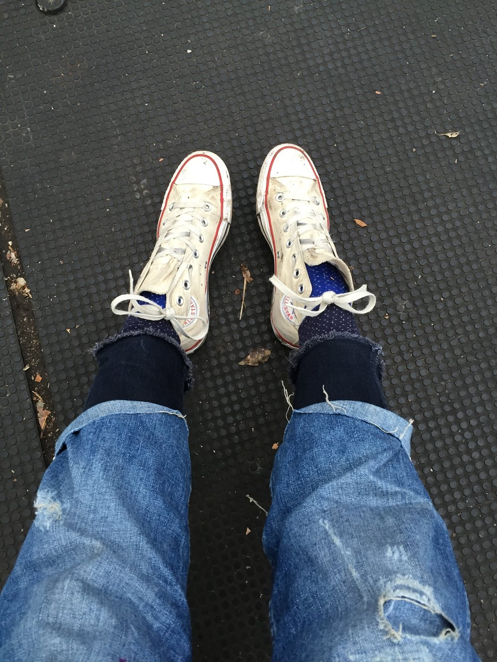Jeans over jeans. Self portrait.