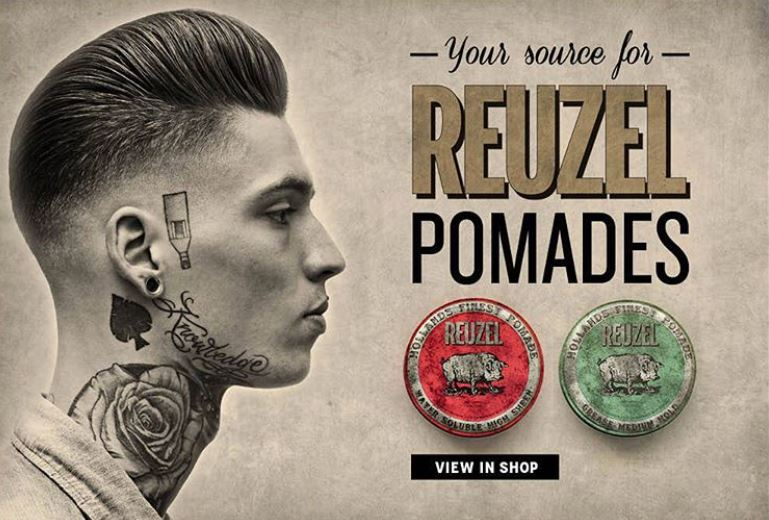 reuzel  Reuzel Pomades products for the perfect Gentlemen's cut and style.