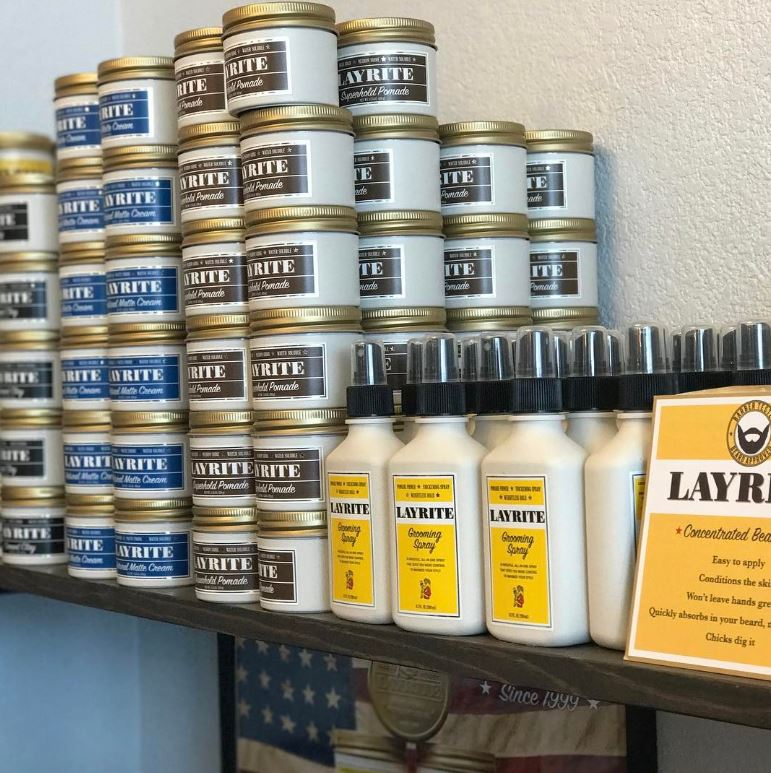 LAYRITE  Layrite grooming products with high performance, delivering versatility.