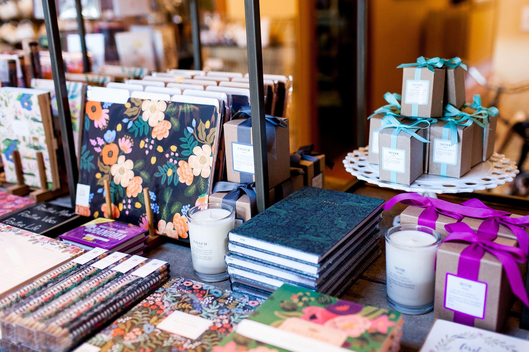 Rifle Paper Co. is one of our favorite. Paired with an Ella B Candle it makes the perfect gift
