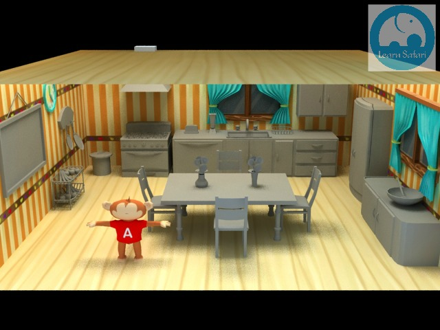 The Learn Safari Kitchen. Models Without Textures.