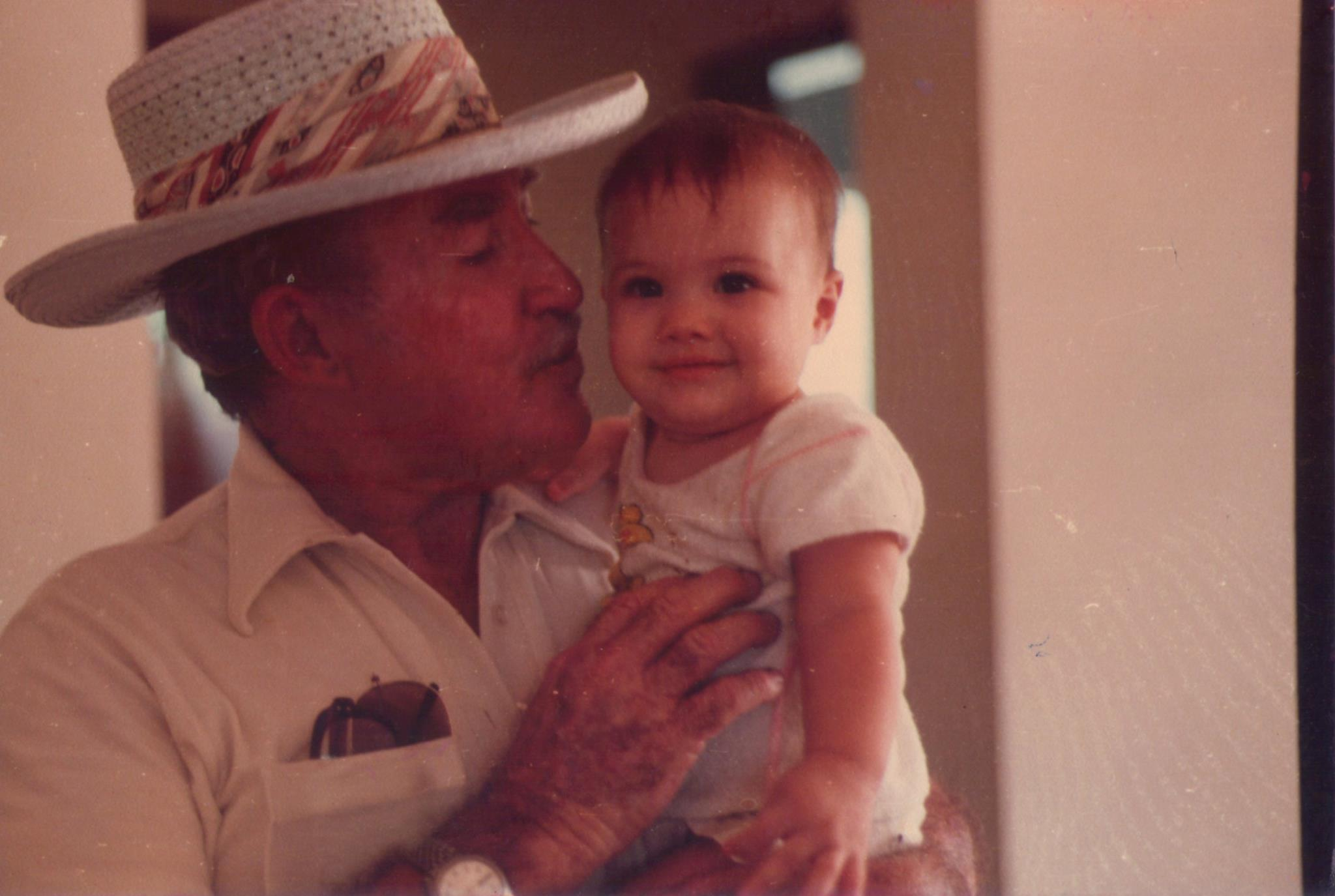 Rebecca and her grandfather.