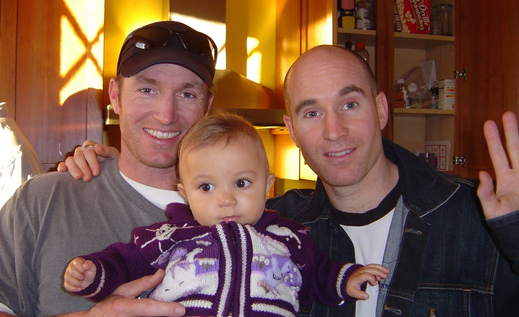 Glen Doherty, left, with Greg Doherty, right, and Greg's daughter Naomi in 2006. (Courtesy Greg Doherty)
