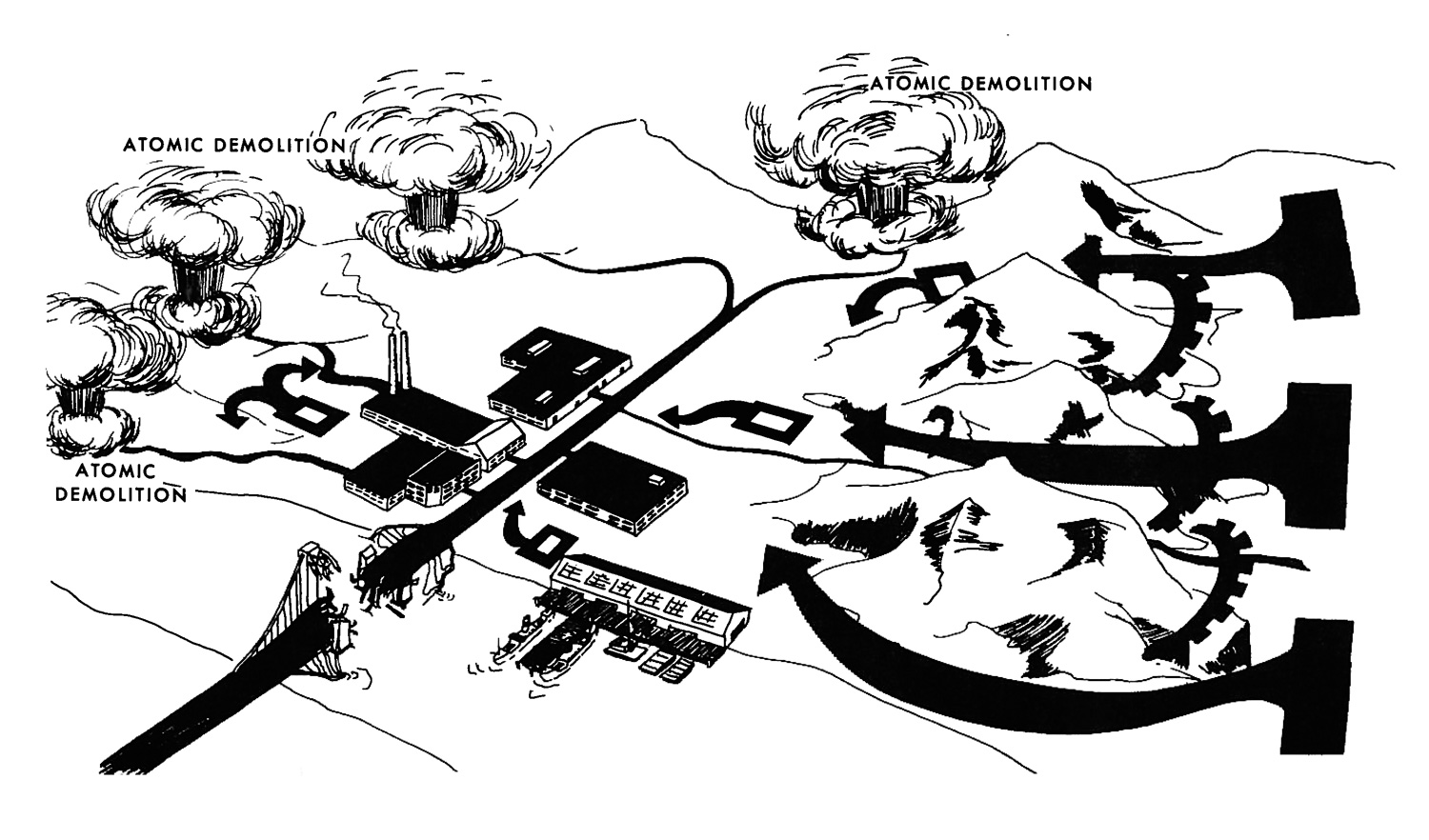 An Army manual explains how nuclear demolition could work on the battlefield. (Courtesy  Foreign Policy )