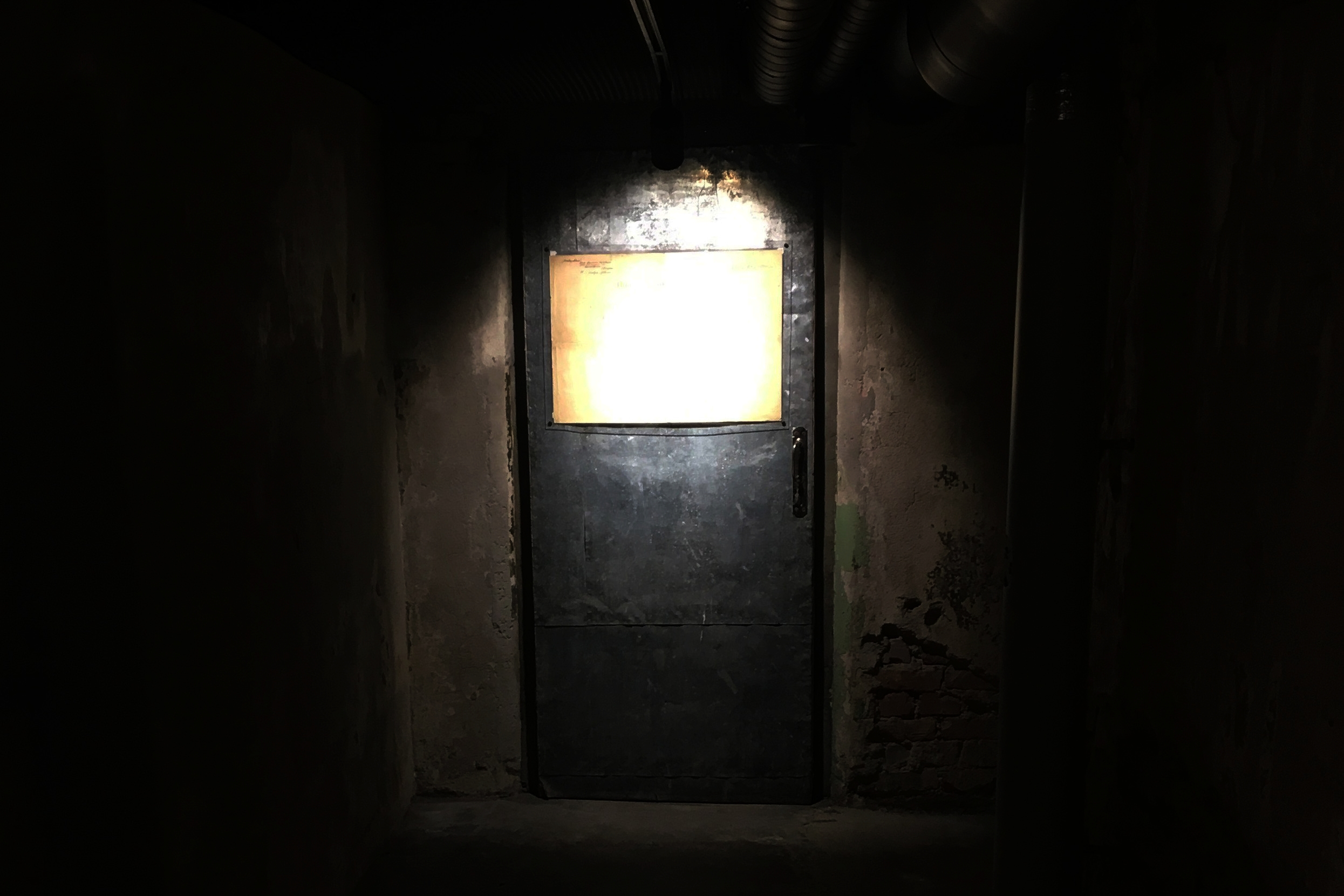 Inside a  KGB prison  in Tallin, Estonia. (Credit: Lee Ferran)