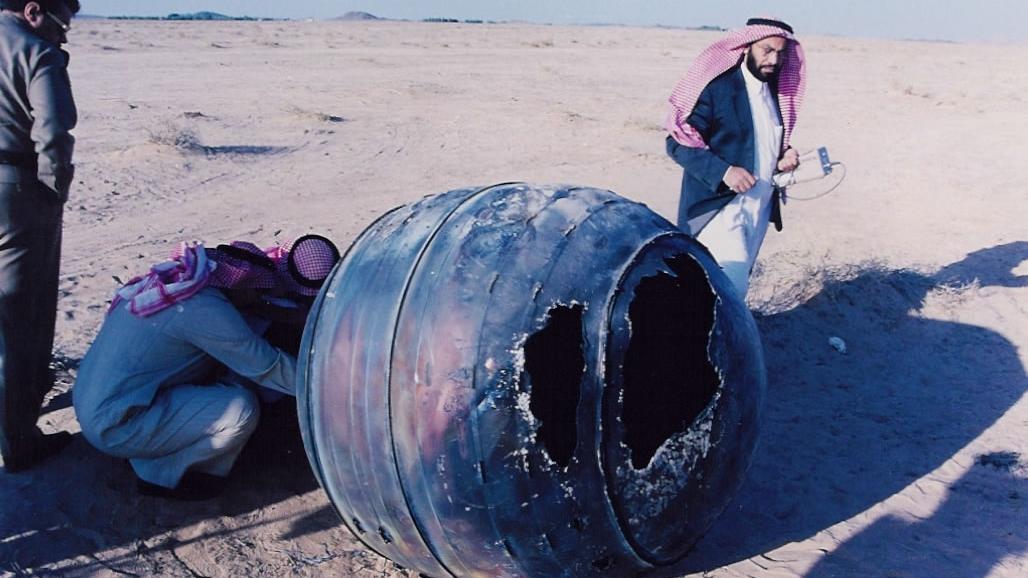 Part of a Delta 2 rocket crashed back to earth in 2001. (Photo credit: NASA.gov)