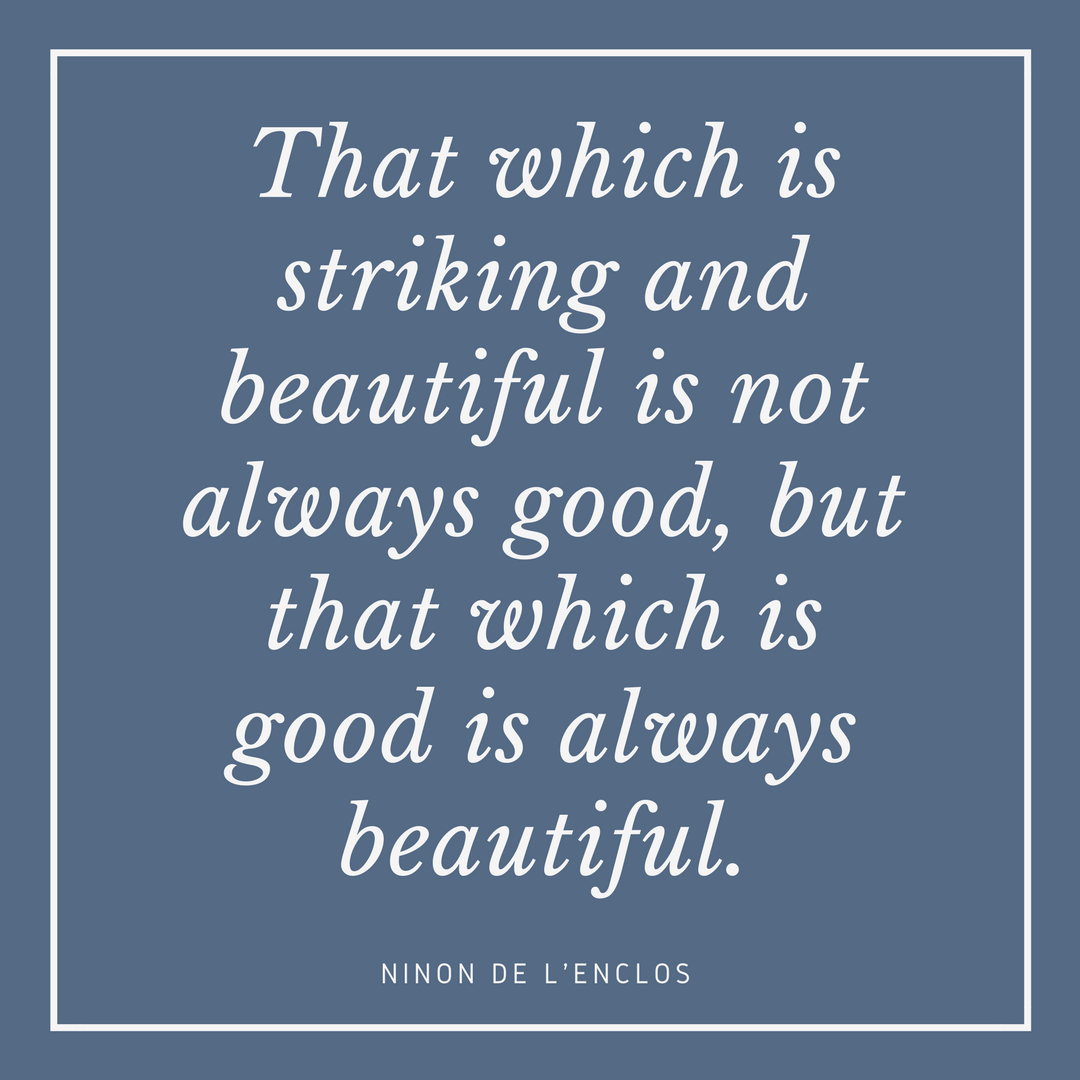 Ninon de L'Enclos on Beauty
