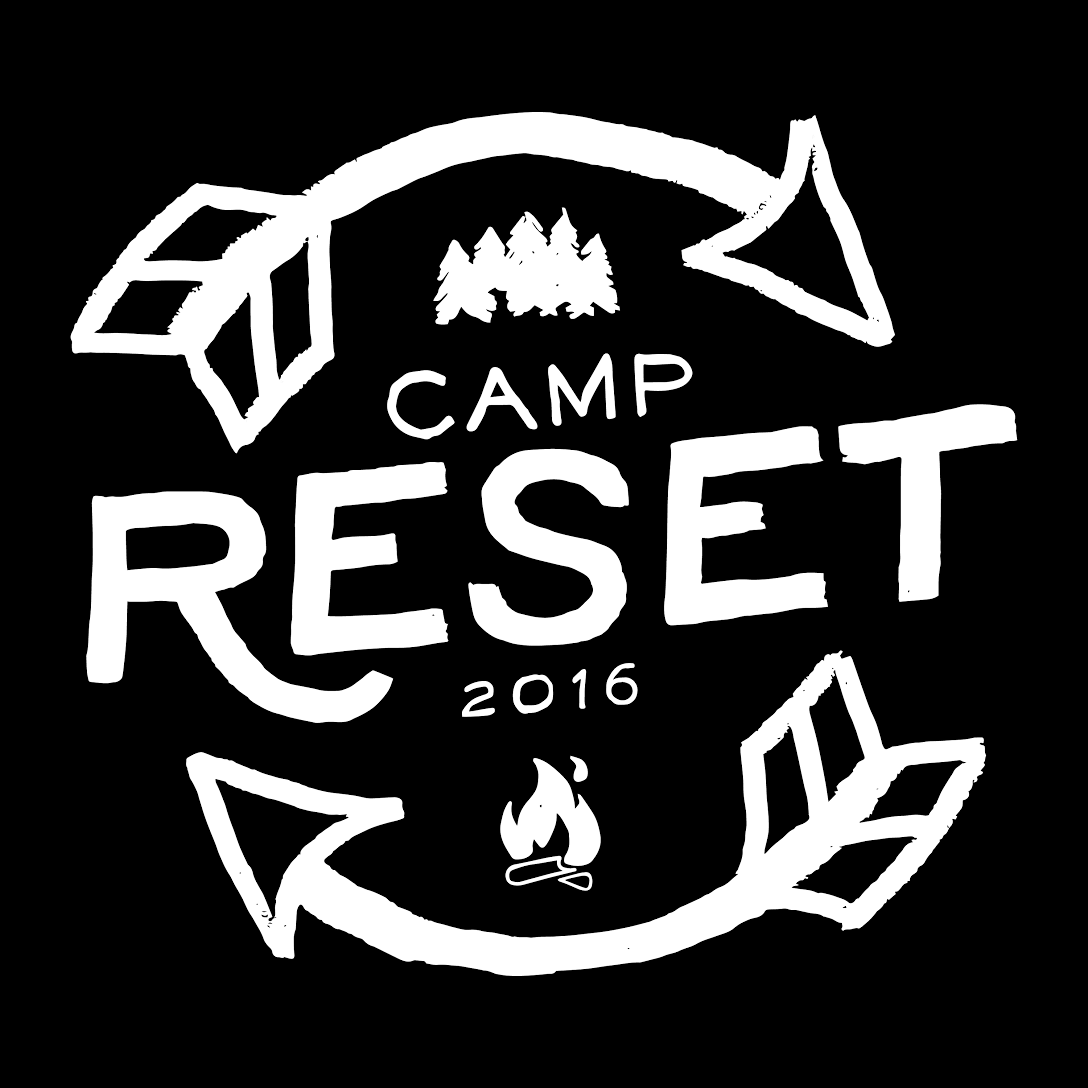 Camp Reset 2016 - White on Black Logo.png