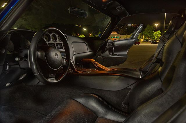 #dodgeviper interior shot. #sopurty #automotivephotography #automotiveart #automotiveinteriors