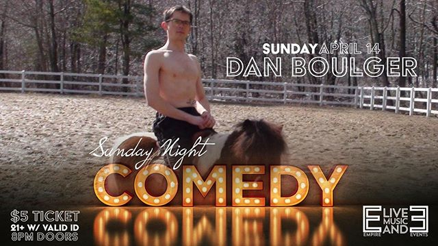 Tonight!  Sunday Night Comedy with Dan Boulger (Boston Comedy Festival Winner) with Keith Hebert, Caleb Sherman and more.  Hosted by Tim Duffy!  Doors at 8pm, $5, 21+. #GoTcanwaittillyougethome #weknowyoureusingyourfriendsHBOGOlogin  TIX/INFO | http://ow.ly/h3PK30oquR8