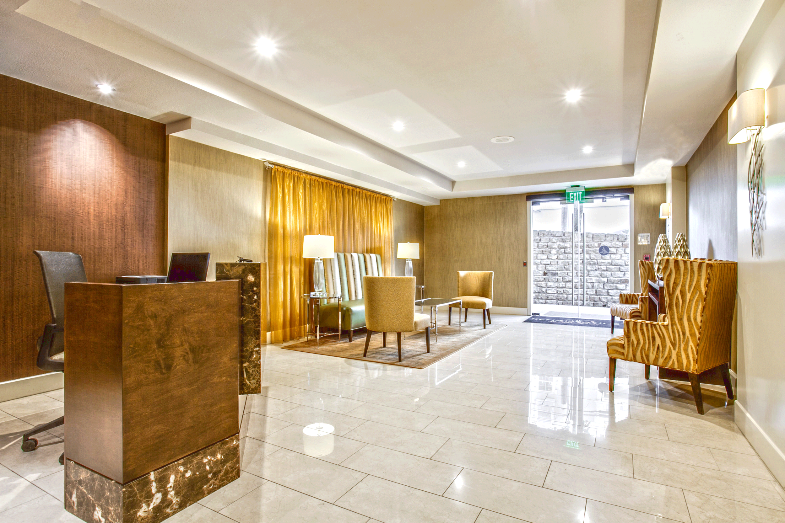 WEST LOBBY - An intimate space, with less of the