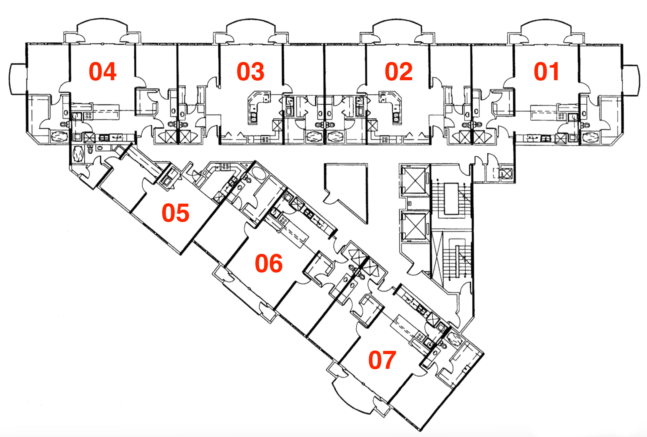 East Tower Typical Layout