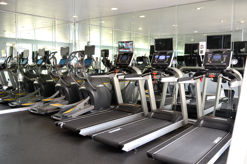 Fitness Centers - Main Fitness Center: Located on the 5th floor of the South / West Tower, this fitness center includes 3 treadmills, 2 ellipticals, 2 bikes, helix, Vertical Knee Raise, Hyper Extension, Dual Leg Extension/Leg Curl, Peck Deck/Rear Delt, Assisted Chin/Dip, Dumbells, Freeweight Benches, Smith Machine, Bicep Curl, Stretcher, Dual Cable Functional Trainer with Pull Up, Abdominal Crunch, Leg Press, Dual Lat Pull/Low Row. Stretch Room, Dry Sauna.East Tower Fitness Center: Located on the ground floor of the East Tower, this fitness center includes two rooms of equipment and a dry sauna.Hours: Open 24/7, subject to Quiet Hours 10:00 p.m. to 9:00 a.m.Personal Trainers: Many residents benefit from Personal Trainers in the Fitness Centers. However, these individuals must be properly registered. See Section 1.9(l) of the Rules and Regulations. Contact the management office for details.