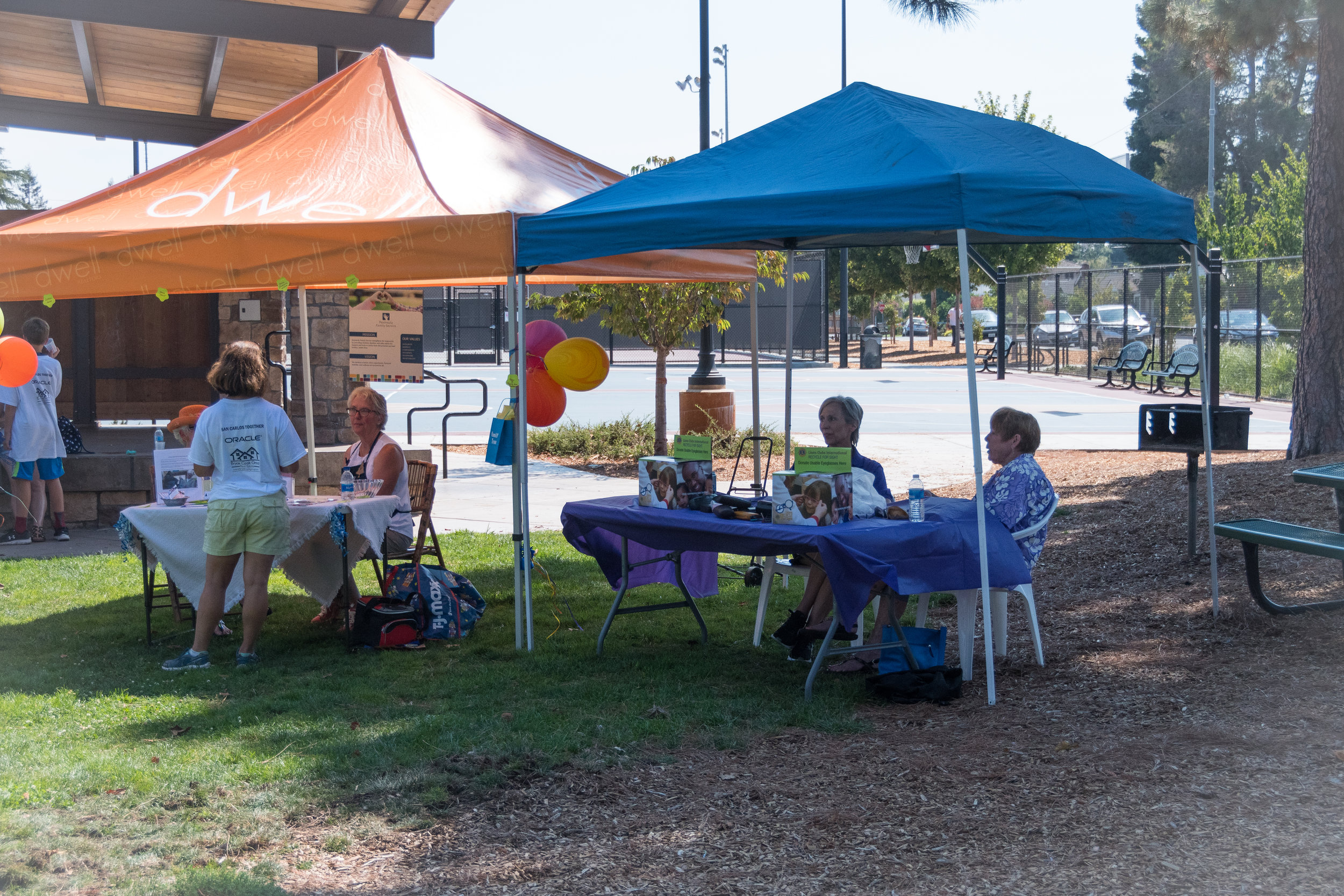 The Family Tree and the Lions Club Booths at Burton Park