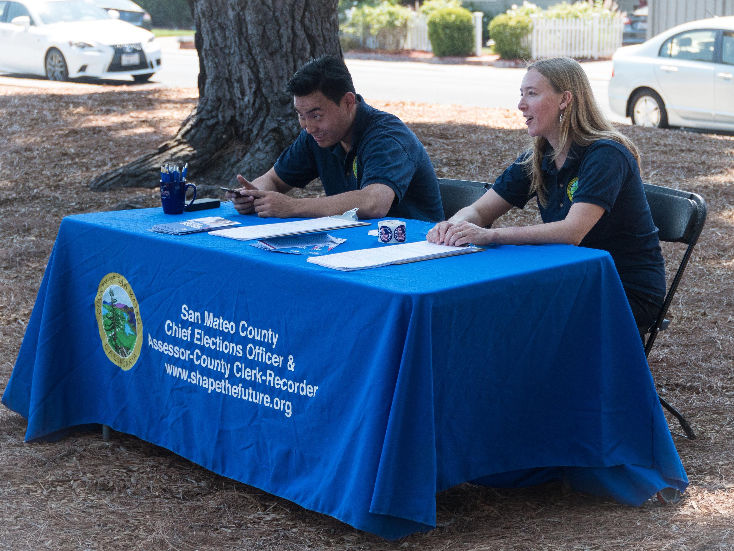 San Mateo County Voter Registration team