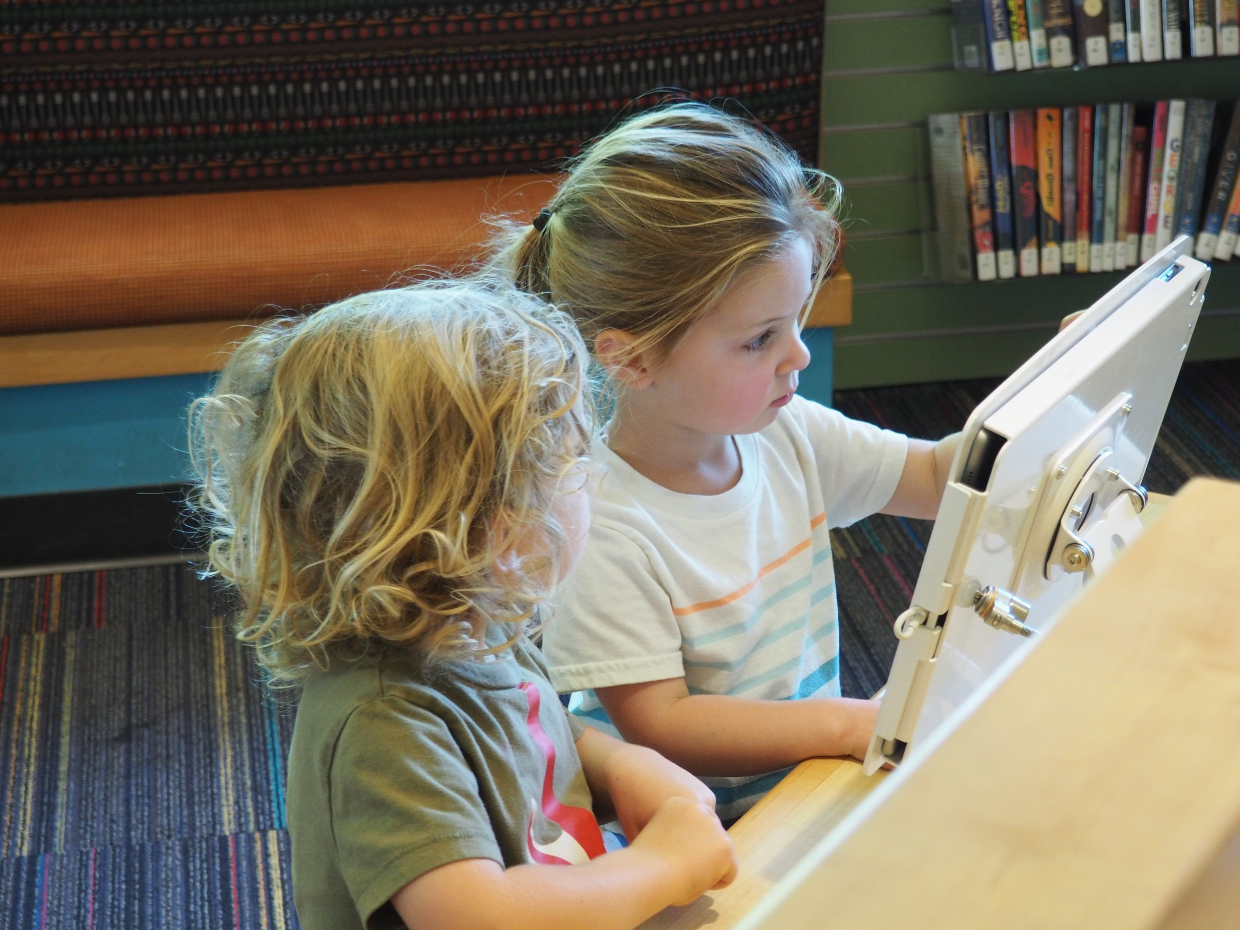 Learning to read at the library