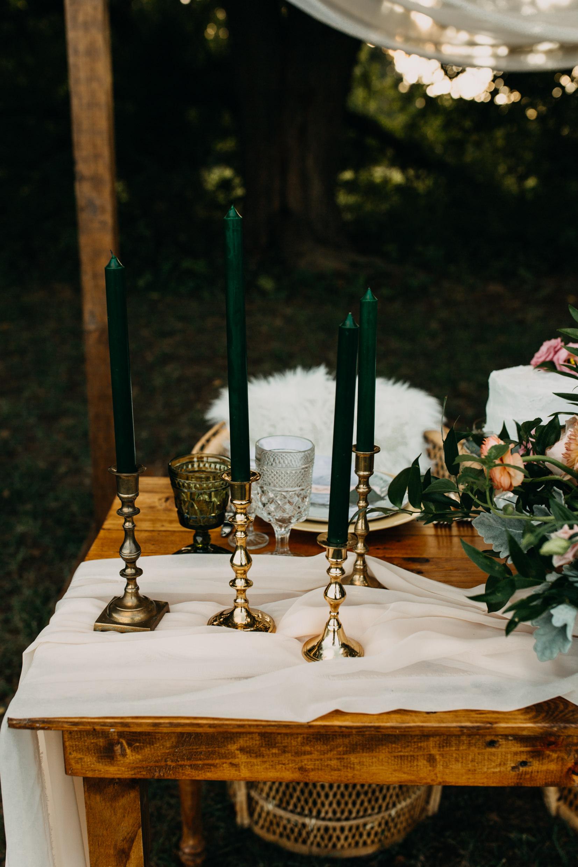 Brass Candlesticks The Vintage Rental Company
