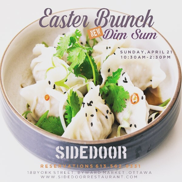 It's new, it's fun, it's DIMSUM! Join us on Easter Sunday for our first ever DIMSUM brunch. Guaranteed to have all your Sidedoor favourites and more! #maketacosnotwalls #bywardmarket #brunchottawa #tacosandtequila #dimsumottawa